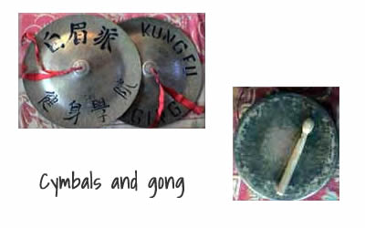 Instruments for Qi Lin dance