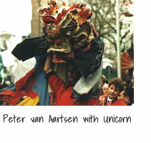 Peter van Aartsen with Unicorn