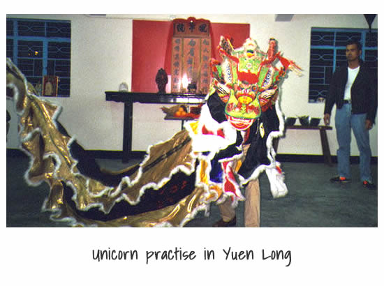 Unicorn practise in Yuen Long, Hong Kong